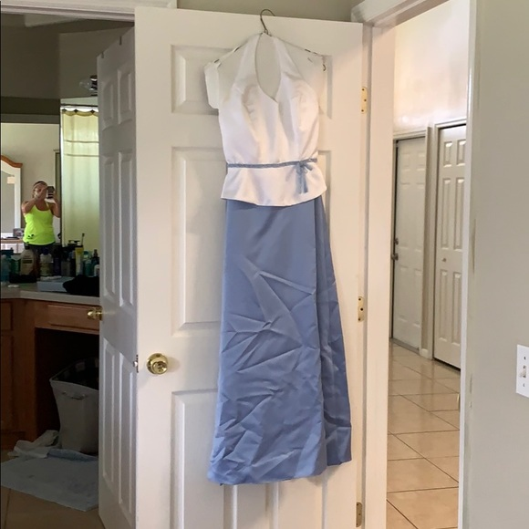 Jordan Dresses & Skirts - Periwinkle and white gown